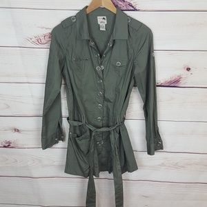 Prototype Olive Green Silver Buttoned Ja…
